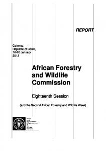 African Forestry and Wildlife Commission