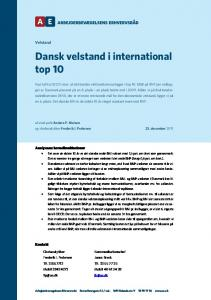 Dansk velstand i international top 10