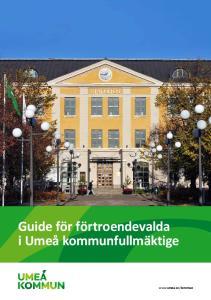 Guide för förtroendevalda i Umeå kommunfullmäktige
