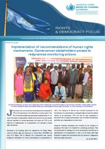 Implementation of recommendations of human rights mechanisms: Cameroonian stakeholders poised to redynamise monitoring actions